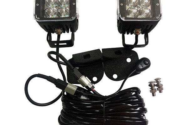 Picture of a Jeep  Wrangler JK Cube led lights and bracket kit