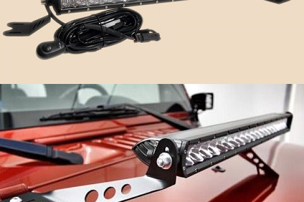 Picture of a Jeep  Wrangler JK light bar with bracket 100W