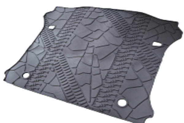 Picture of a Jeep Wrangler JK 4Door rear truck mat without hole