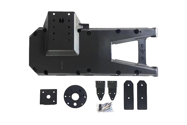Picture of a Jeep Wrangler  JL Oversized Spare Tire Mounting Bracket Kit