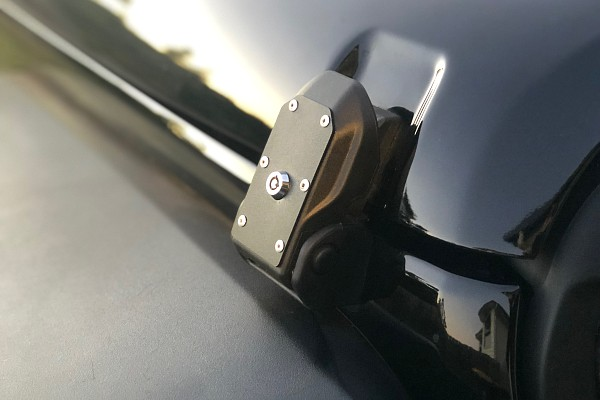 Picture of a Jeep Wrangler JL Style Bonnet Latch for Jeep Wrangler JK (Lockable)