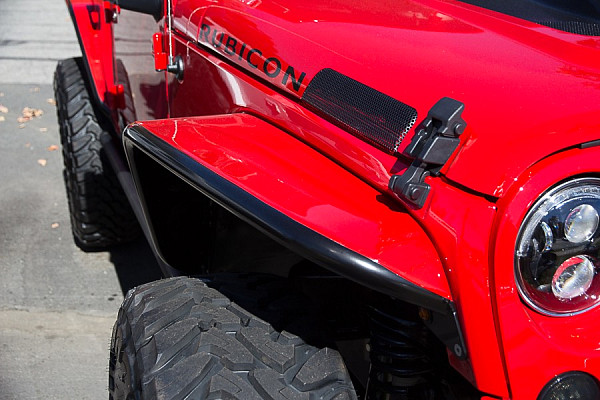 Picture of a PS Style Aluminum  Front & Rear Fender Flares Standard width  (8.75 inch & 6 inch)