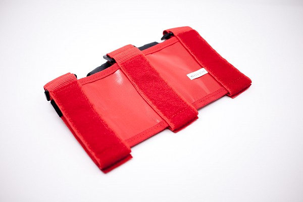 Picture of a 2x RED roll bar post soft Grab Handle grip Accessory