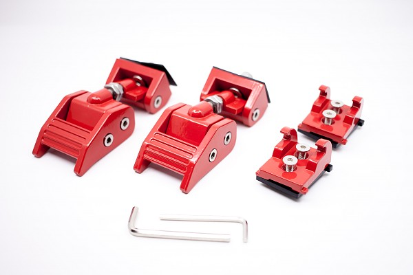 Picture of a Heavy Duty Bonnet Hood Lock Catch Kit (Red)