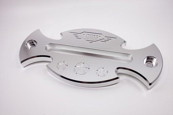 Picture of a Silver Aluminum Hawse Winch Fairlead Cover