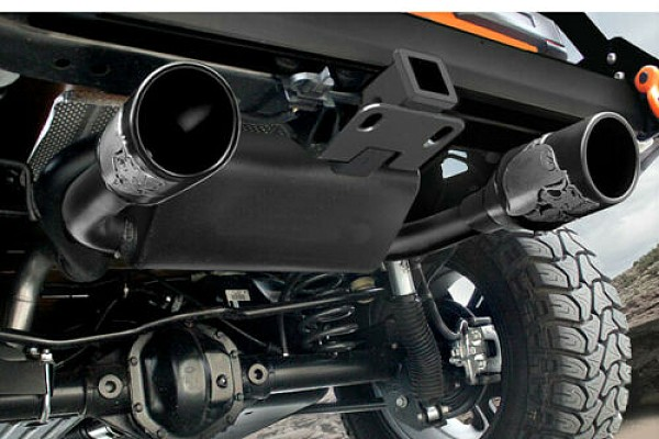 Picture of a Gibson Skull Exhaust Style Stainless Dual Exhaust Muffler System