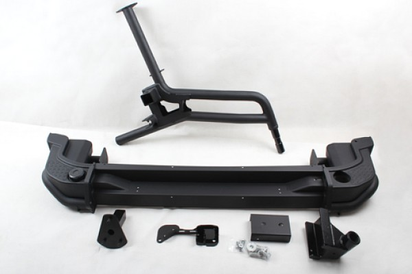 Picture of a AEV Style Steel Rear Bumper Bar with Heavy Duty Spare Wheel Carrier