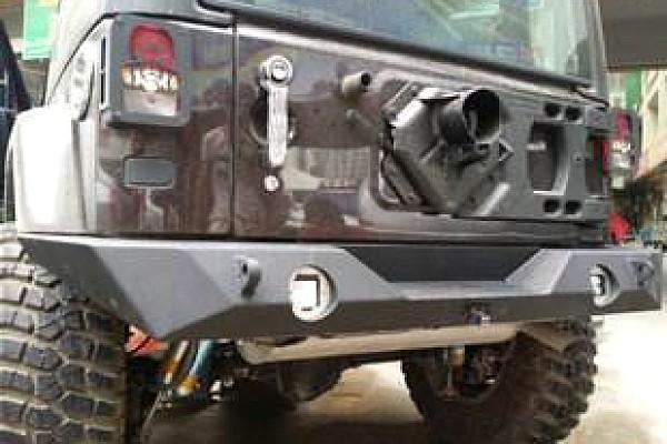 Picture of a JW0363 Poison Spyder Brawler II Style Full-width Steel Rear Bar