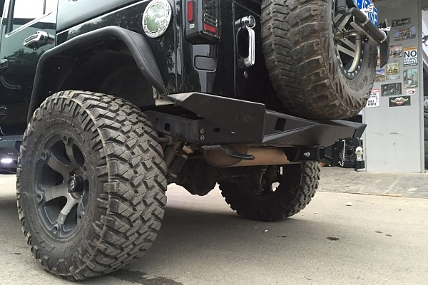 Picture of a Aggressive Rear Bumper Material: Steel