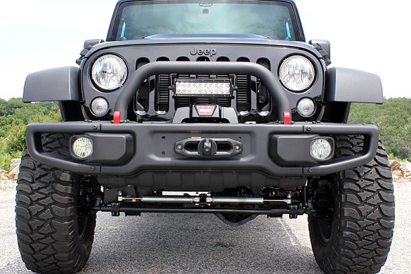 Picture of a 10th Anniversary Style Front Winch Bull Bar with U bar 026D