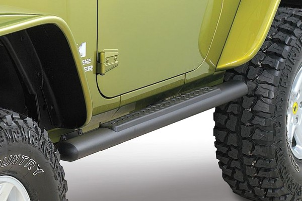 Picture of a Aluminium Running Board Side Steps Black for 2-Door Jeep Wrangler JK (Set)