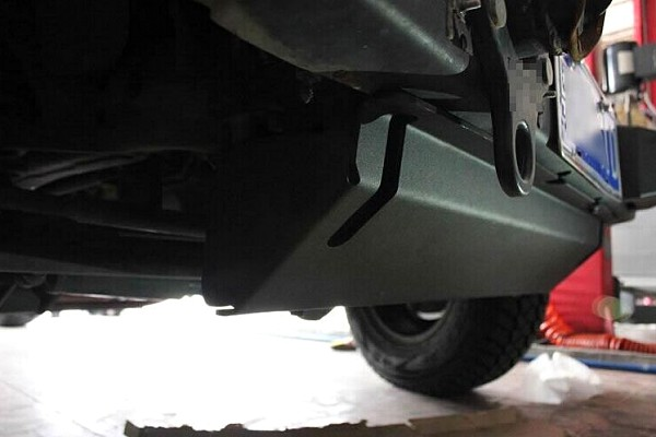Picture of a AEV Style Front Skid Plate under cover engine guard board