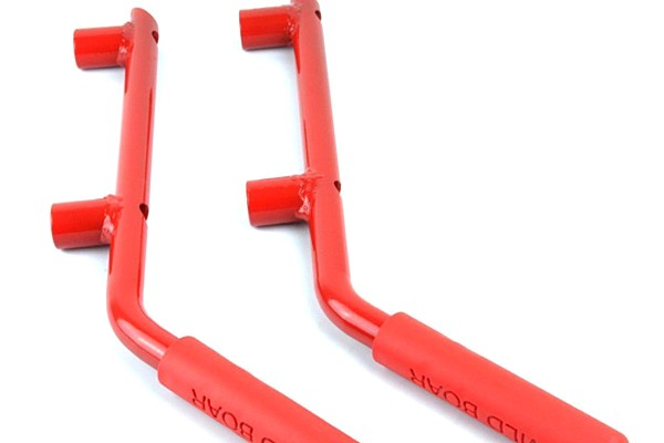 Picture of a Pair Red Wild Boar Rear Grab Handle Grip Accessory