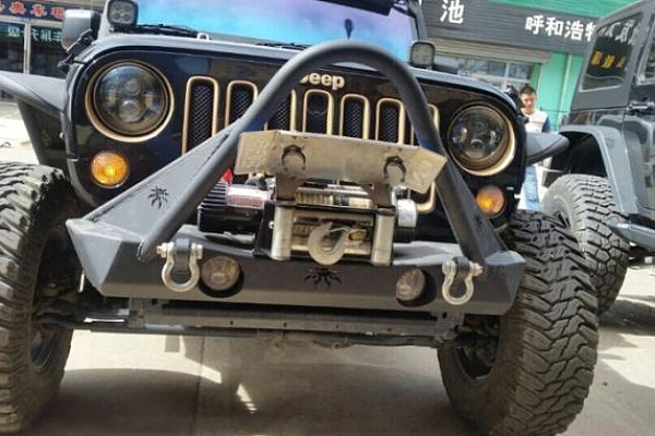 Picture of a JW0329 Poison Spyder Style Steel Front Winch Bull Bar
