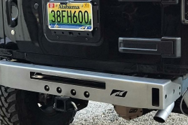 Picture of a Jeep Stubby Rear Bumper with Tow Hook