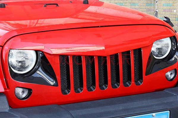 Picture of a Eagle Style Angry Grille Matte Black Finish