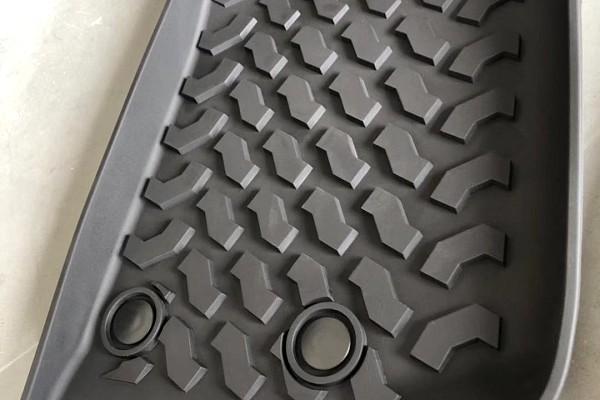 Picture of a Jeep Wrangler JK Floor Mats (Deep Dish Design) for 2-Door Wrangler