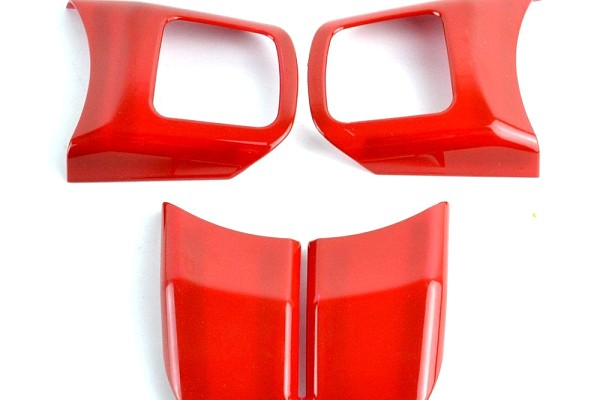 Picture of a 3 Pieces Red Steering wheel Cover Trim