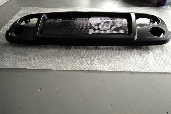 Picture of a Spartan Skull Style Angry Grille Matte black