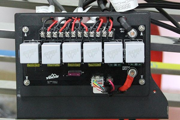 Picture of a YBOS Six-in-one Switch Control Panel with LED display