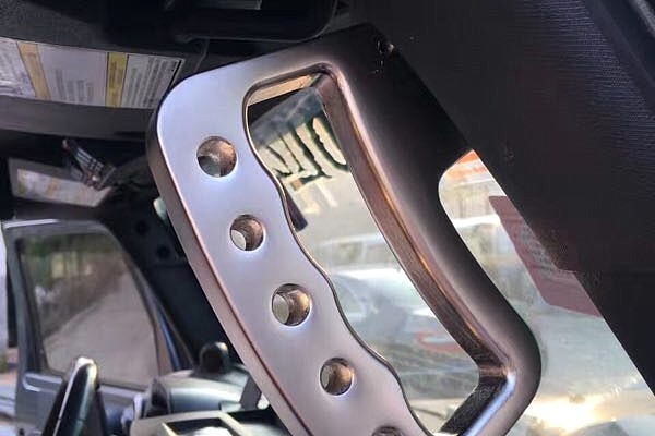 Picture of a Pair Aluminum Front Grab Handle A-alloy Black Color