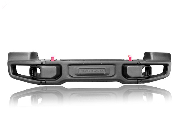 Picture of a 10th Anniversary Style Front Winch Bull Bar with corners 026B