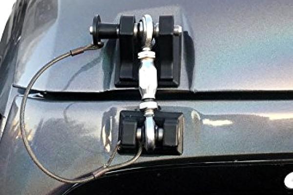 Picture of a Retro Style Bonnet lock Catch Kit (Black)