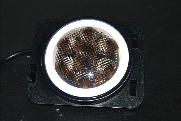 Picture of a Pair LED Side Fender Lights Black Turn Signal Lamp