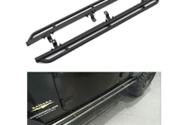 Picture of a 10th Anniversary Style Rock Sliders for 2-Door Jeep JK Black-satin (Set)