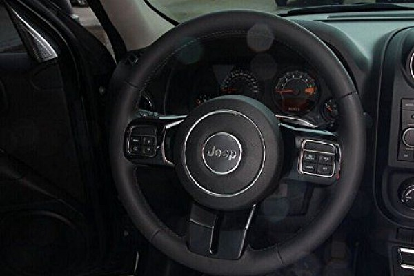 Picture of a 3 Pieces Black Steering wheel Cover Trim