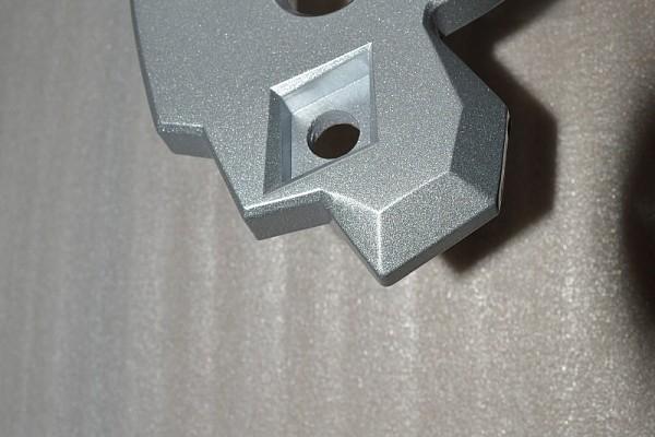 Picture of a Silver Aluminum Hawse Winch Fairlead Cover 0192