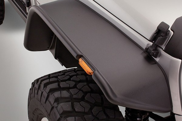 Picture of a Bushwacker Flat Style Front&Rear Fender Flares Guard