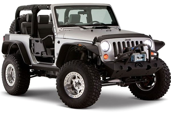 Picture of a BW Flat Style Front&Rear Fender Flares Guard