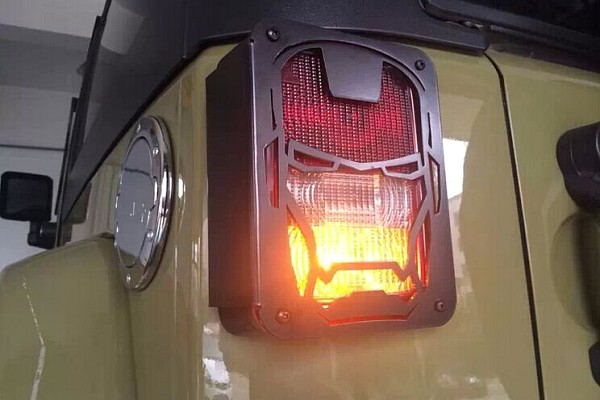 Picture of a Pair Iron Man Style Tail Light Cover Light Guard