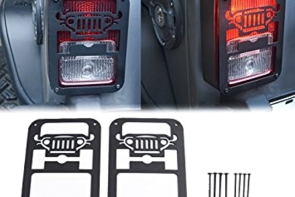 Picture of a Jeep Style Flat Tail Light Cover Light Guard
