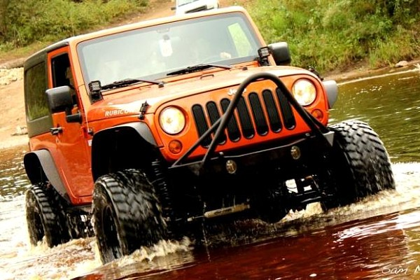 Picture of a JW0326 Poison Spyder Style Steel Front Winch Bull Bar