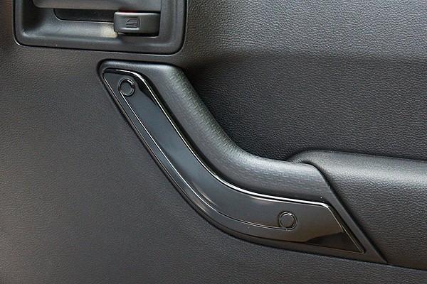 Picture of a 4 Door Black Inner Door Handle Trim Cover Interior