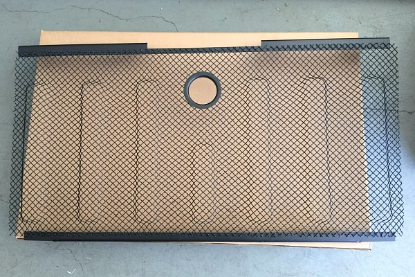 Picture of a 3D Grille mesh Black Color fits OEM Grille