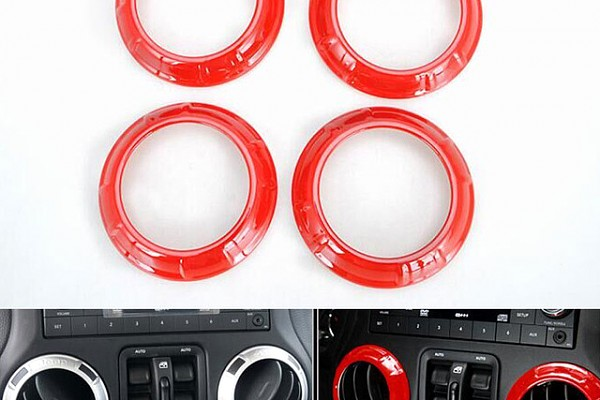 Picture of a A.C outlet Decoration Circle red