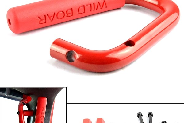 Picture of a Pair Red Wild Boar Front Grab Handle Grip Accessory