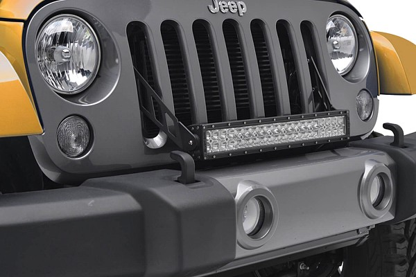 "Picture of a 20"" LED Light Bar Bracket Mount Through Grille Grill"