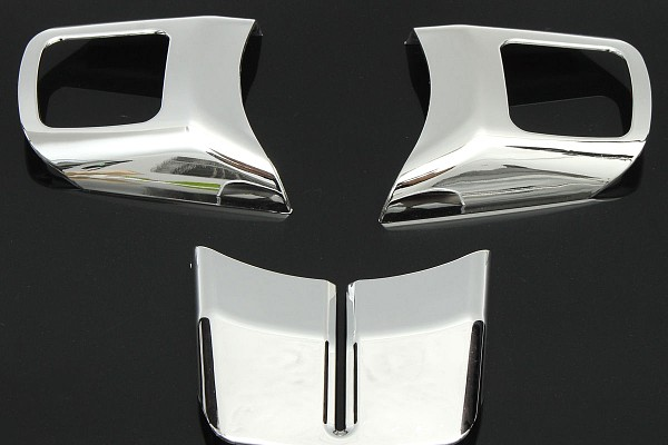 Picture of a 3 Pieces Silver Steering wheel Cover Trim