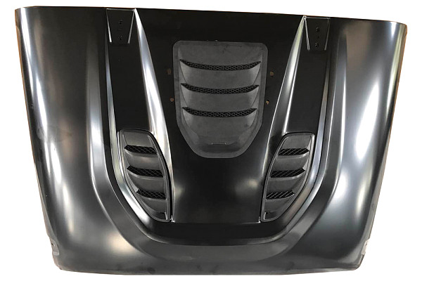 Picture of a Trailcat Style High Flow Steel Bonnet with Three Vents