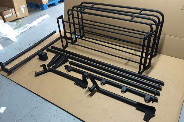 Picture of a 4 Door Jamboree Style Roof Rack Basket Body Mount